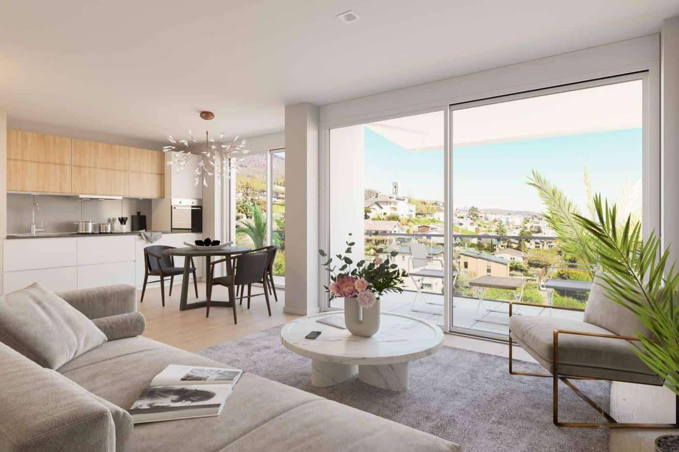À vendre : Appartement 1 chambres Neuchâtel - Ref : 34709 | Naef Immobilier