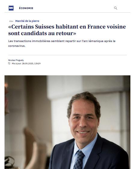 Interview de Jacques Emery, directeur des ventes chez Naef Prestige, dans le quotidien Tribune de Genève